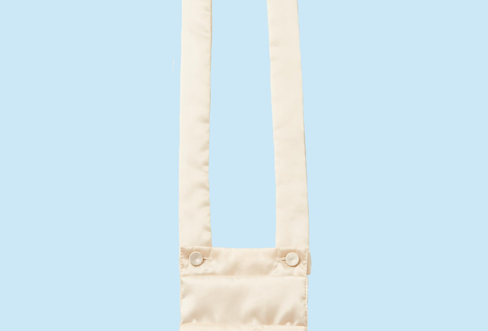 Padded Necklace Bag / Chest Pocket in Ivory