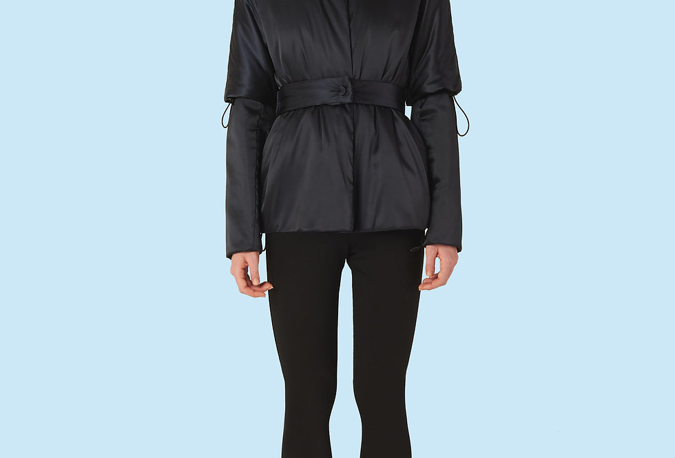 Short Padded Coat (150 grms) in Black