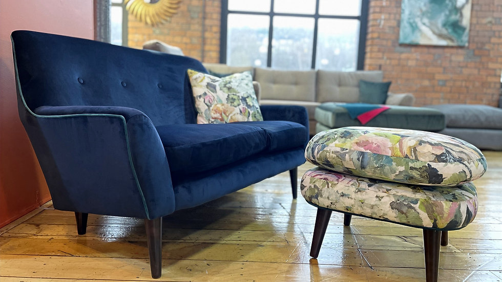 Charles sofa with stool