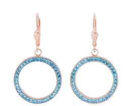 Earrings Ring Crystals pave