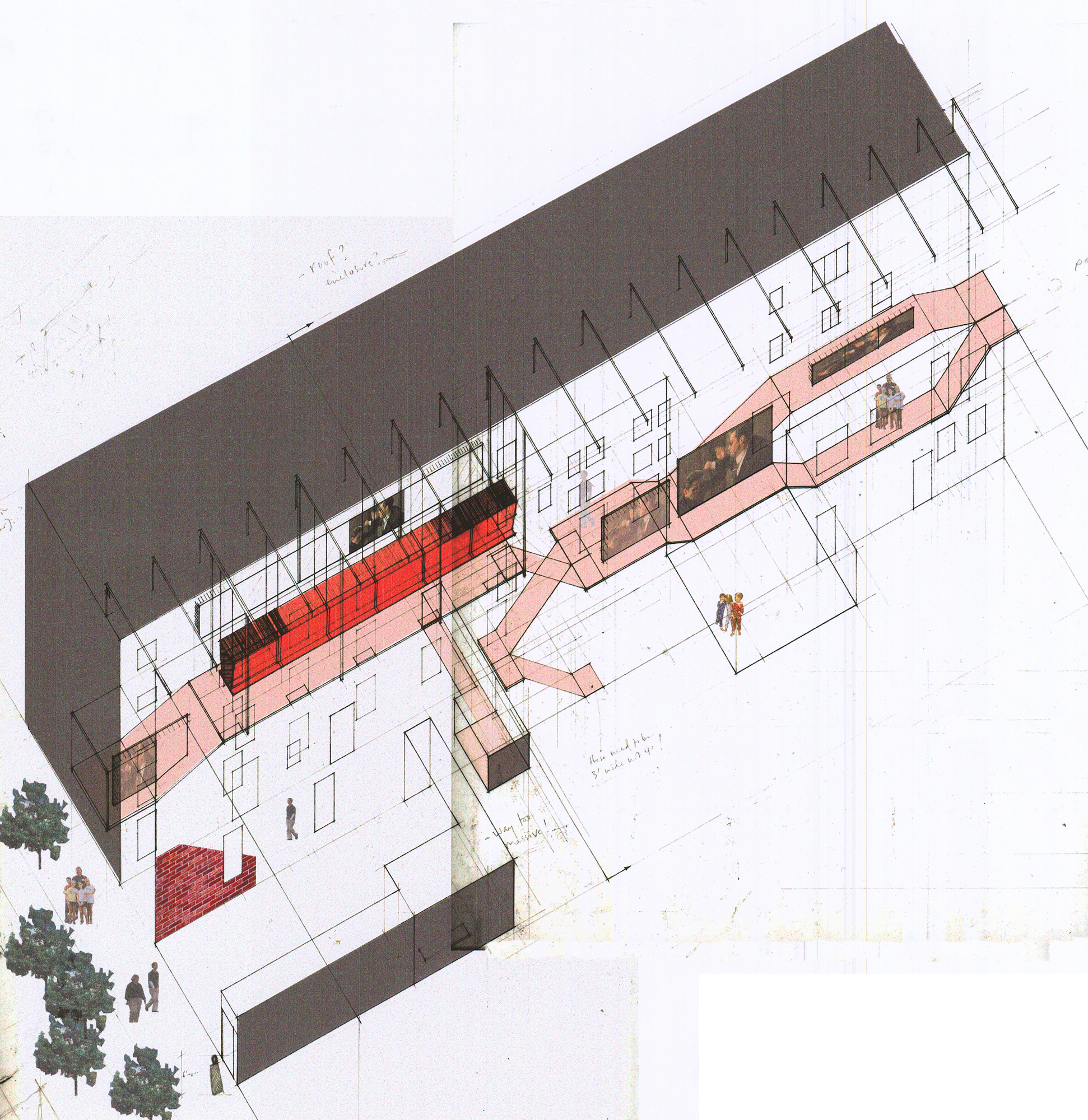 City As House - living room axon