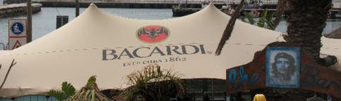 Bacardi stretch tent