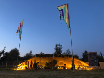 12x8m (2x 6x8s joined) stretch tent festival