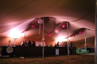 118x12m stretch tent festival bar