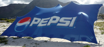 Pepsi branded stretch tent