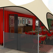 stretch tent for shipping container conversion