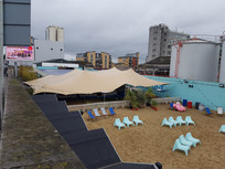 20x15m stretch tent urban bar