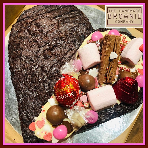Loaded Love Heart Brownie
