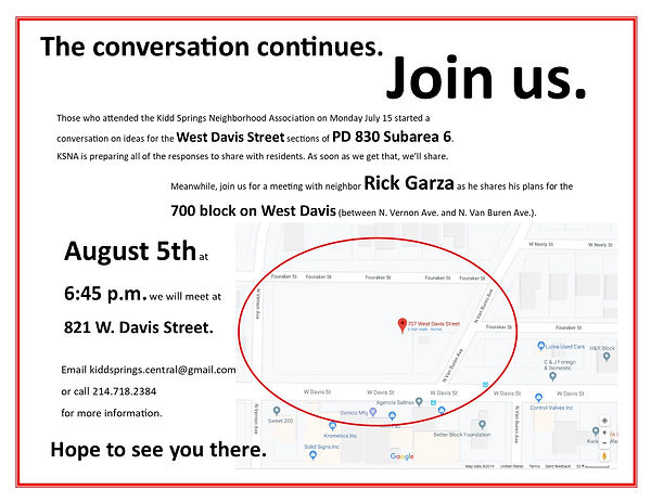 West Davis Rick Garza Meeting August 5th