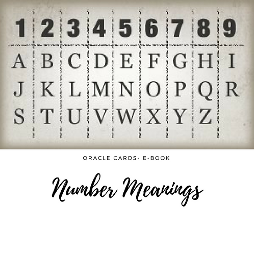 Oracle Cards- Number Meanings E-Book
