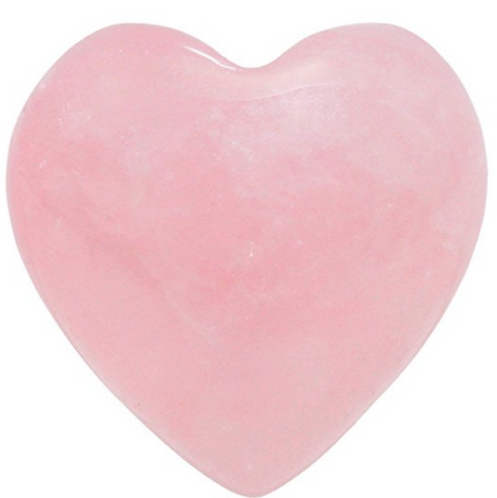 Healing Crystal- Rose Quartz Carved Heart Infused w/ Source Energy