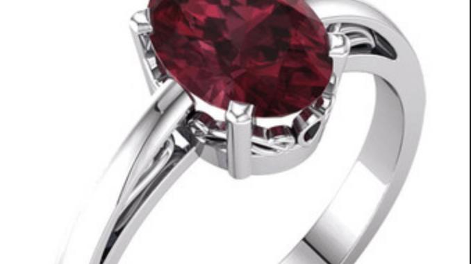 Mary Magdalene Stone - Garnet Ring | 7 | ValSecrets Inc