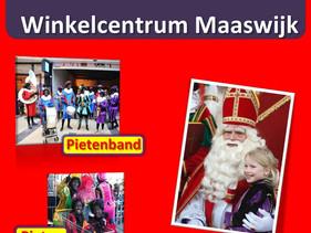 Sinterklaas op winkelcentrum Maaswijk