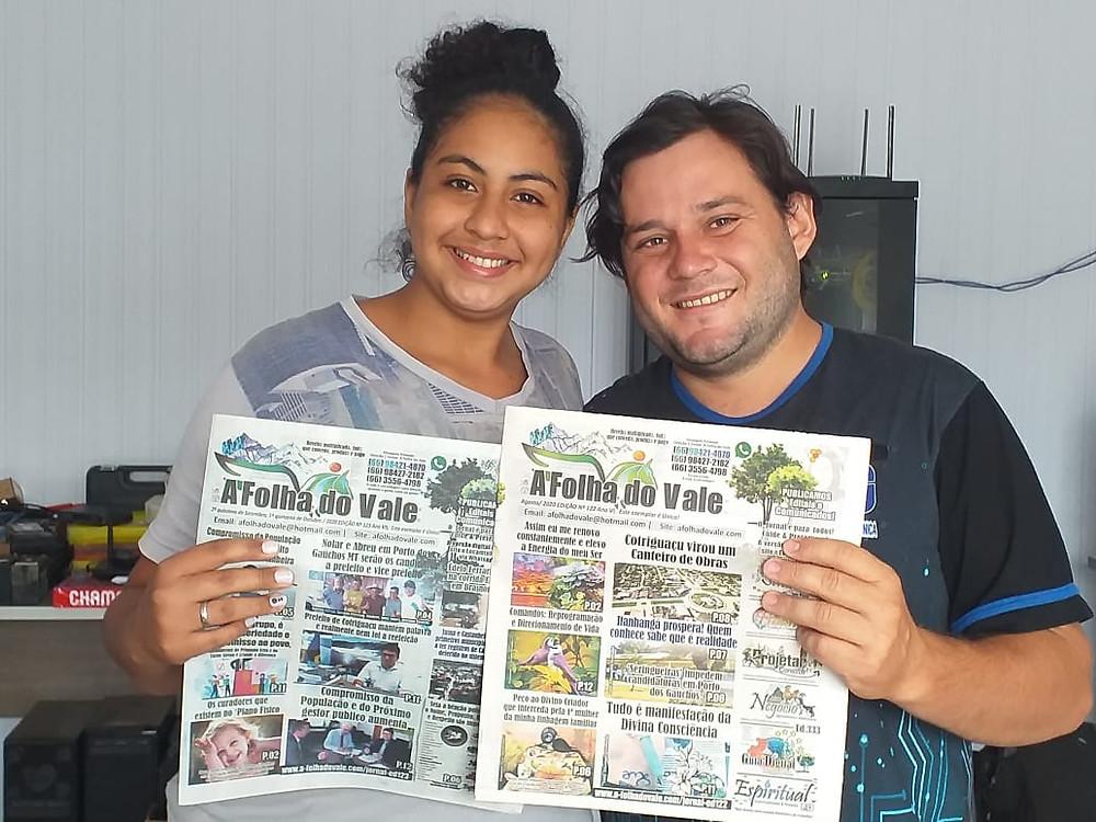 Registro de Entrega de Exemplares da Ed. 122 e 123 do Jornal A Folha do Vale por Castanheira MT