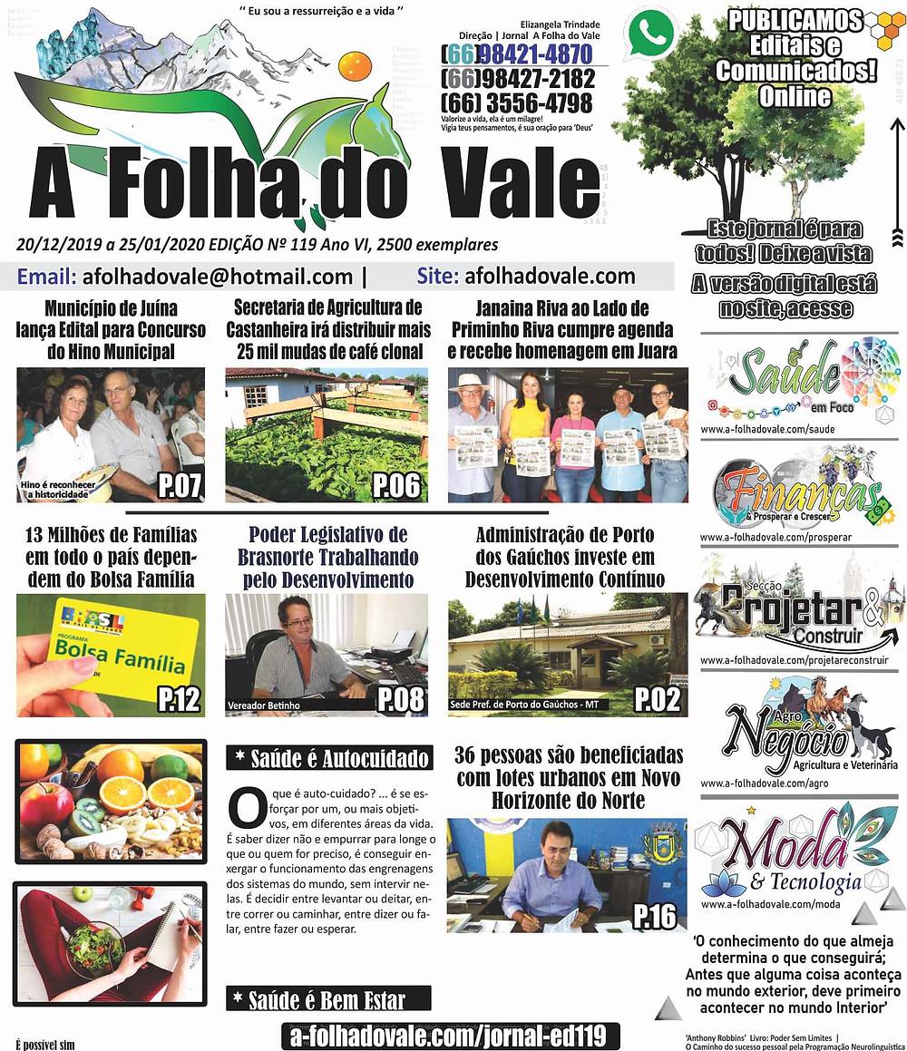 P.01 da Ed. 119 do Jornal A Folha do Vale