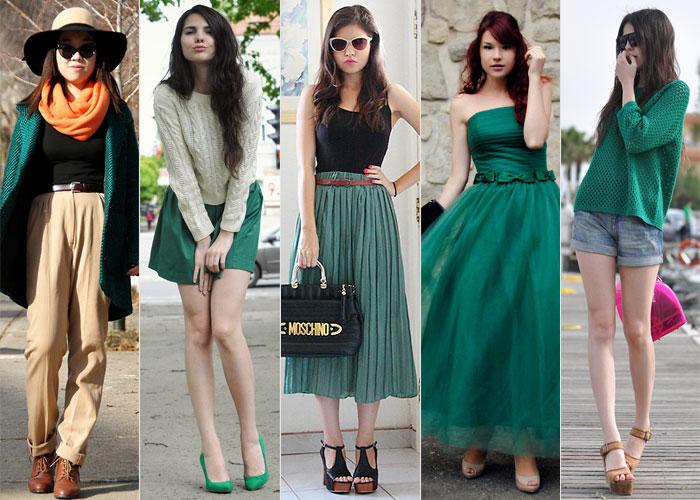 Resultado de imagem para roupas verdes