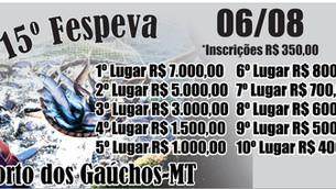 Porto dos Gaúchos anuncia inscrições para o 15º Festival de pesca do Vale do Arinos (FESPEVA)