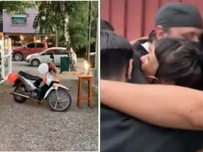 Funcionários de restaurante dão moto de presente a cozinheiro que andava 14km por dia para trabalhar