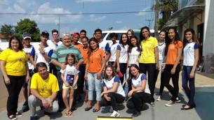 Alunos e professores de 'Itanhangá' vistam autora 'Sofia' em Porto dos Gaúchos