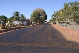 Obras de pavimentação em Juara são retomadas
