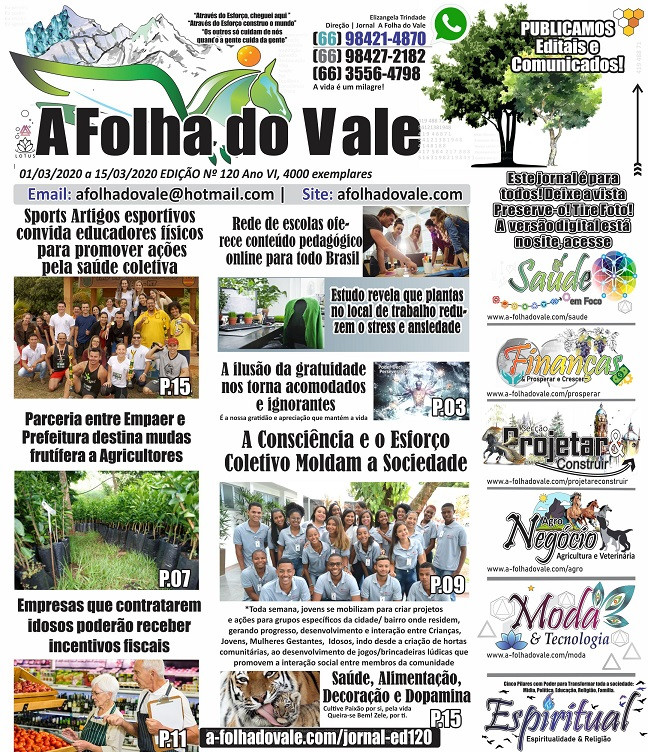 P.01 da Ed. 120 do Jornal A Folha do Vale