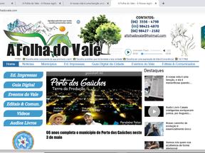 O profissionais e empreendimentos integrados no site do Jornal A Folha do Vale, no Guia Digital