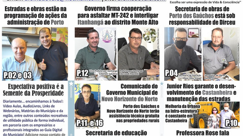 Porto dos Gaúchos desponta em obras e produção na região do Vale do Arinos