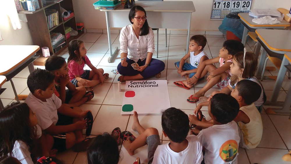 Pedagoga realizaou aula de orientação Nutricional em Novo Paraná Porto dos Gaúchos