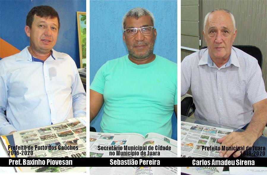Moacir Pinheiro Piovesan,  Coronel Sebastião Pereira, Carlos Amadeu Sirena