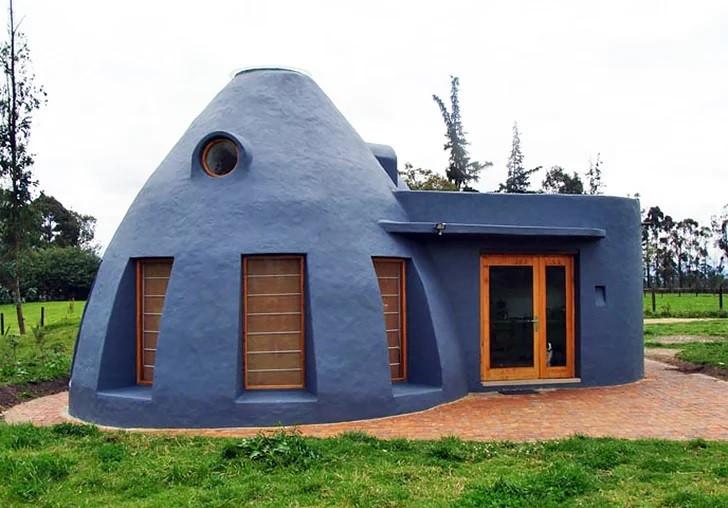La Casa Vergara, contruída com SuperAbobe - em Bogotá - Construída pelo Arquiteto Jose Andres Vallejo