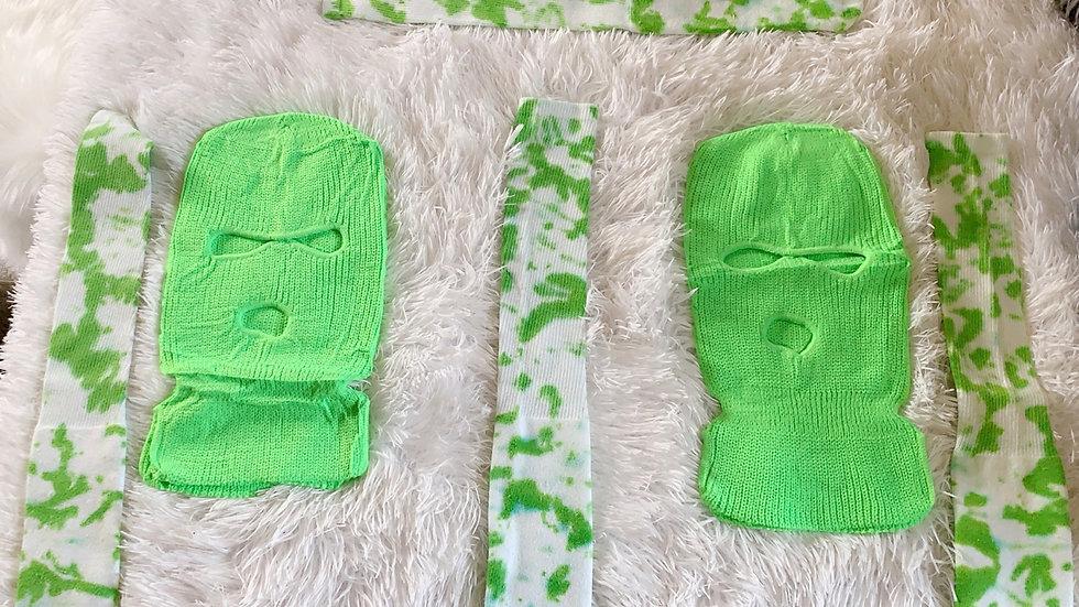 Green Socks & Mask