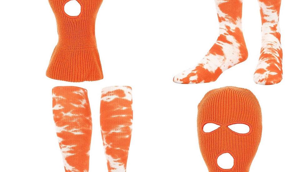Orange Mask and Sock set