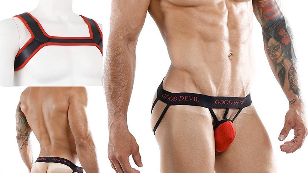 Red Harness Set