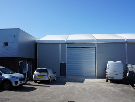 Northern Power Tools storage and workshop temporary building in Sheffield
