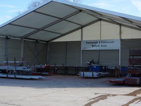 Temporary Storage Structure for Explore Transport in Winsford