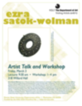 Ezra Satok-Wolman, Workshop and Lecture at Kansas State University