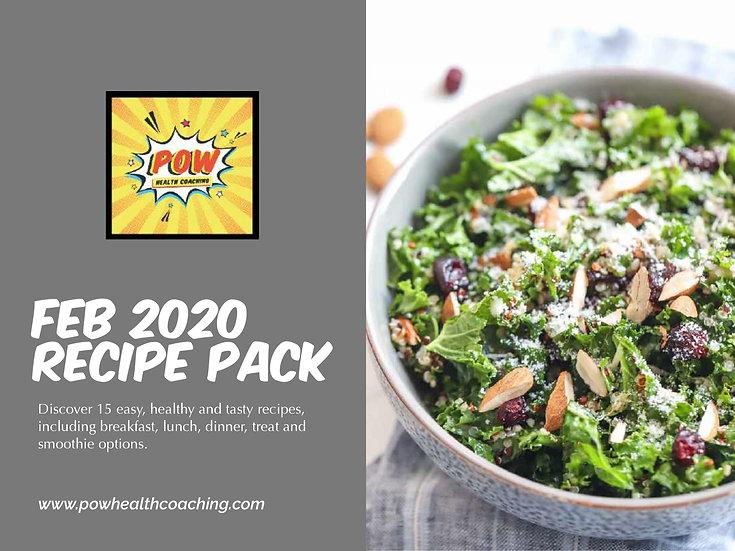 FEB 2020 Recipe Pack - PDF