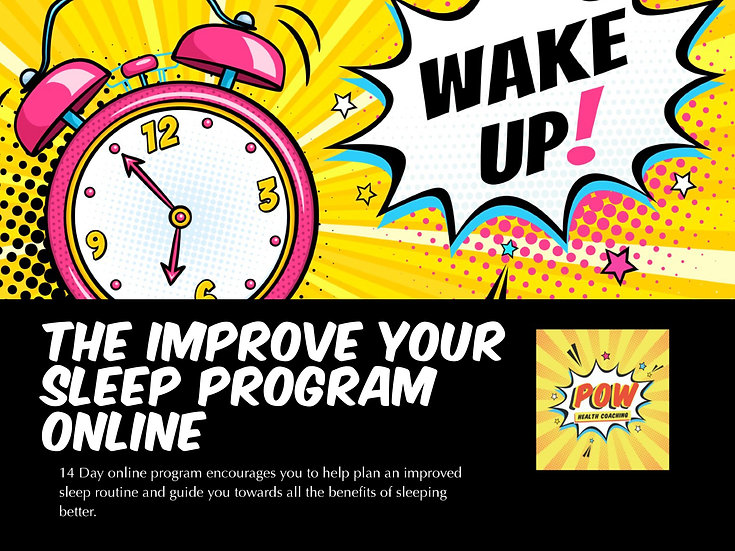 The Improve your sleep Program - ONLINE