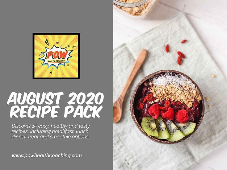 AUGUST 2020 Recipe Pack - PDF