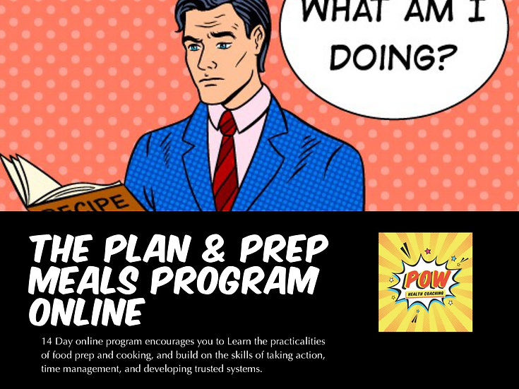 The Plan and prep meals Program - ONLINE