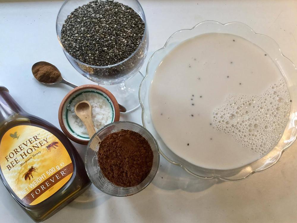 Chia Pudding med Kakao, Kanel og Honning