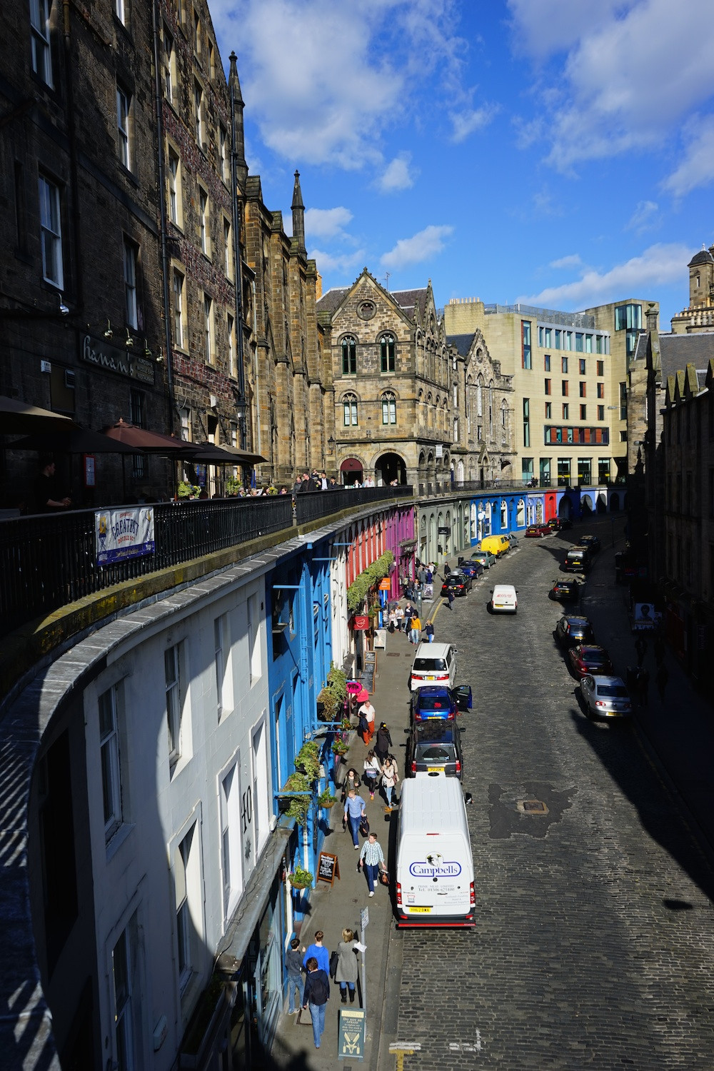 Victoria Street as seen from Victoria Terrace.