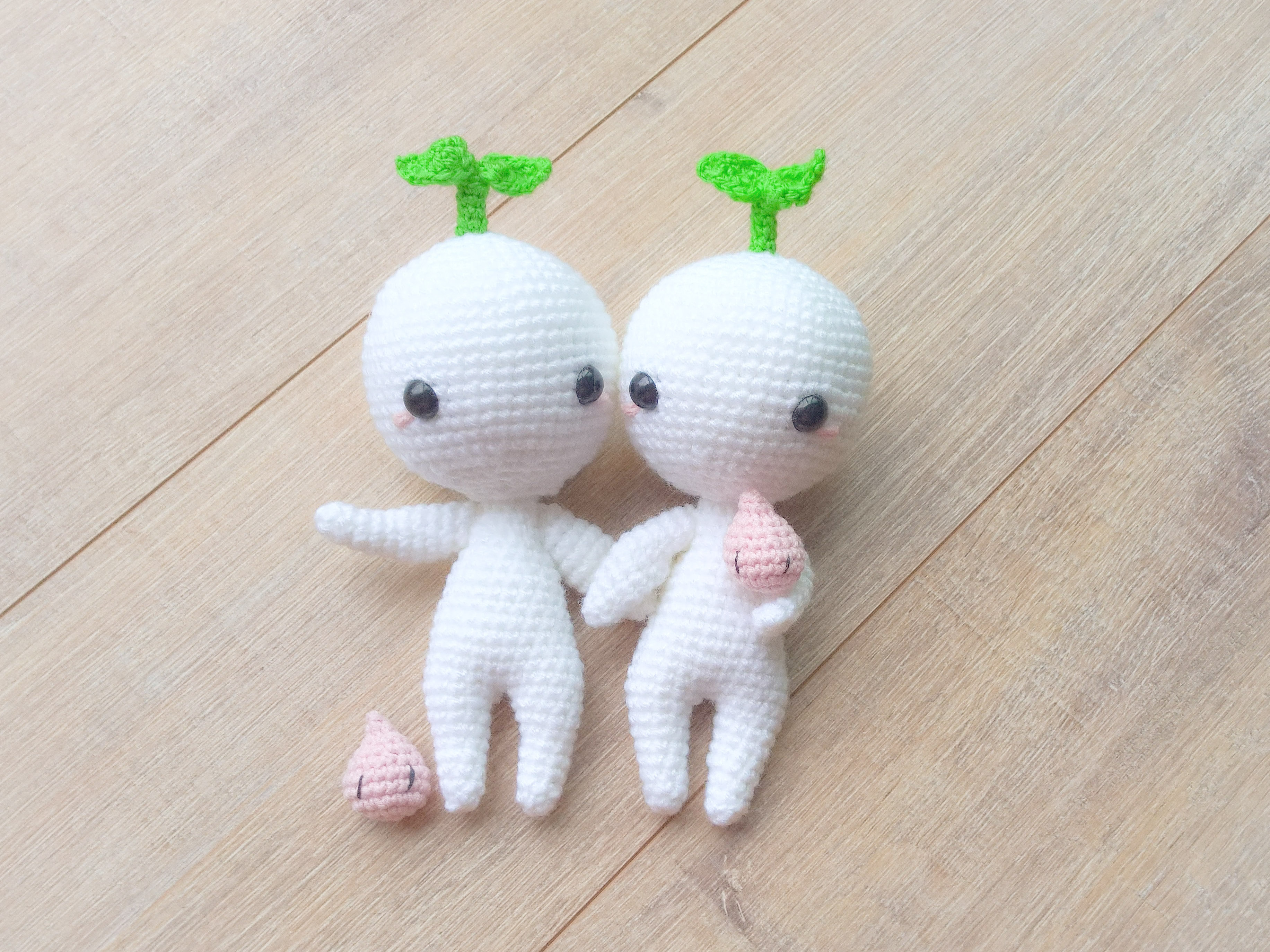 Amigurumi Chibi Doll : Home; dollmaker of crocheted happy plushies baby turnip with