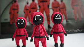Squid Game Pink Soldiers Free Crochet Pattern