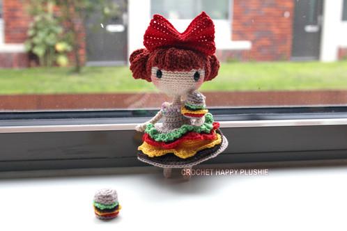 Amigurumi Chibi Doll : Lily the hamburger shia doll crochet pattern home; dollmaker of