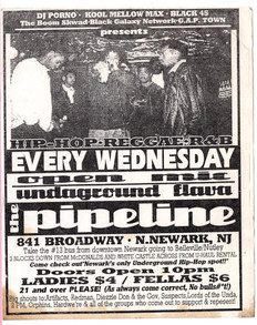 The Pipeline FF Weds 1994 B/W flyer