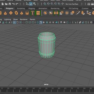 3D Model Barrel (Maya) 2018