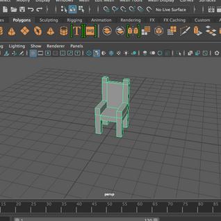 3D Model Throne (Maya) 2018