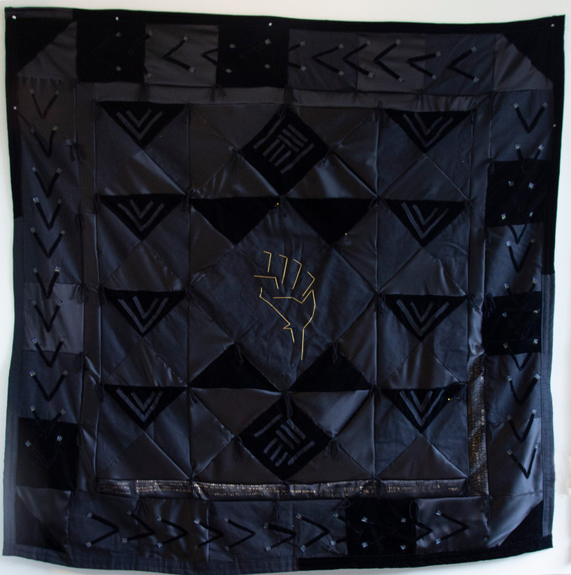 Opinionated Quilt. Textile, 2020, 74x74in.