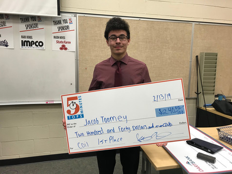 Junior coils up winnings in local business competition